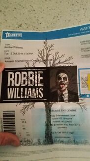 Robbie Williams Gold Reserve x 2 tickets  Greenwith Tea Tree Gully Area Preview