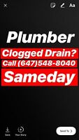 Plumber Clogged Drains? Call (647)548-8040 SameDay
