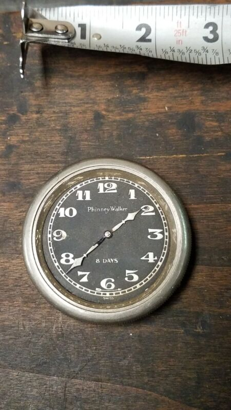 Antique Phinney Walker 8 Day Automobile Car Clock New York NY 1920