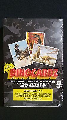 1992 Dinocardz Series 1 Factory Sealed Box 36 Packs Very Rare