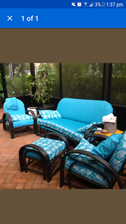 bamboo outdoor lounge setting