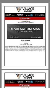 4 Movie ticket voucher urgent Werribee Wyndham Area Preview