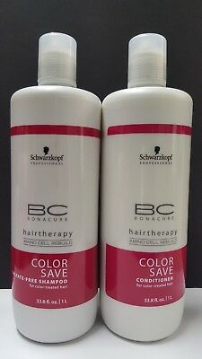 Schwarzkopf Bc Color Save (BC Bonacure Color Save Hairtherapy Duo Pack by Schwarzkopf - 1 Liter each)