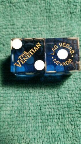 VENETIAN (BLUE) LAS VEGAS CASINO DICE MATCHING#