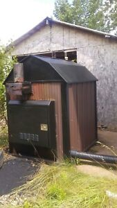 Portage and main outdoor wood boiler
