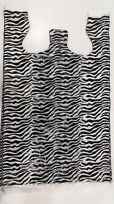 Zebra Print T-shirt Bags 100pc 11.14w X 6d X 21.12h