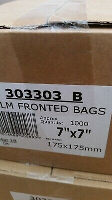 1000 X FILM FRONT WHITE PAPER BAGS. 7