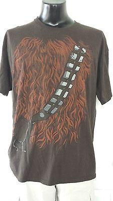 Wookiee Costume (Star Wars Chubacca The Wookiee Chewey Costume Brown T Shirt XL Rare)