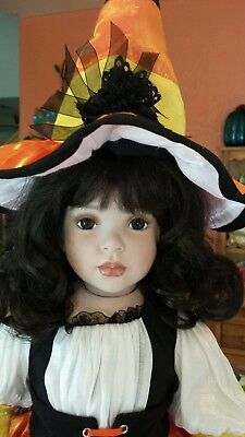 Paradise Galleries Bewitching Magic porcelain witch doll by Donna Rubert