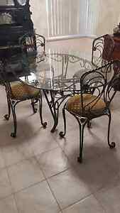 EUROPEAN DINING SUITE - WROUGHT IRON Joondanna Stirling Area Preview