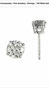 EFFY .98 ct diamond earrings