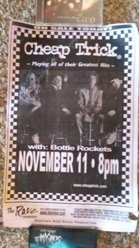 Cheap Trick  Concert Flyer Nov 11, 1999 Milwaukee Rave Bottle Rockets