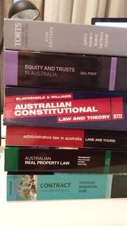 Law textbooks- Torts Equity Trusts Constitutional Property Admin Applecross Melville Area Preview
