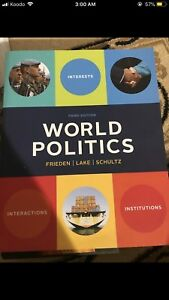 New World Politics Friedan Lake Schultz third edition .