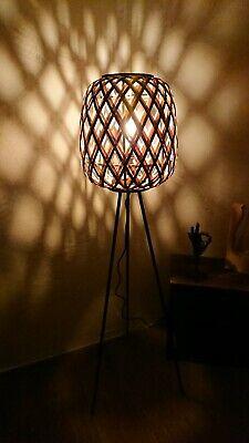 XXL Stehlampe - Stehleuchte Korblampe Rattan Bambus schwarz Weis, gebraucht gebraucht kaufen  Giebelstadt