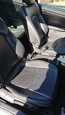 MERCEDES C CLASS W203 COUPE BLACK LEATHER SEATS (HEATED)