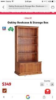 Book shelf with toy box