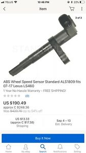 Abs/speed sensor 2008 Lexus is250AWD