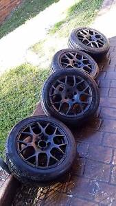 15 INCH 4 X 100 WHEELS WITH 95% NEW TYRES Neutral Bay North Sydney Area Preview