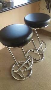 three bar stools black and silver Dubbo Dubbo Area Preview