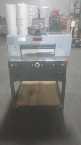 IMPERIAL UCHIDA POWER  OPERATED PAPER CUTTING GUILLOTINE MODEL 46 RUNS GREAT!!!!