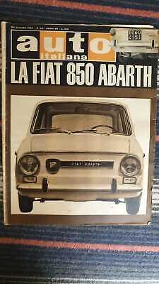 Auto Italiana No 26 25/06/1964 Versuchen Sie auf Straße der Fiat 850 Abarth
