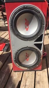 12' subs ,amp,and cords