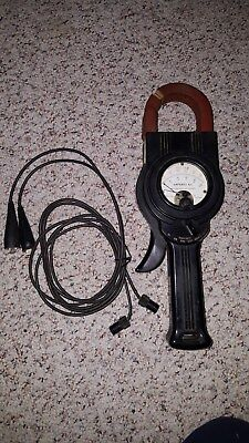 Antique Weston 633 Amperes Ac Clamp On Amp Meter Type A2 Usa Nice Display
