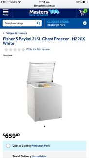 Fisher & Paykel CHEST Freezer NEAR NEW Roxburgh Park Hume Area Preview