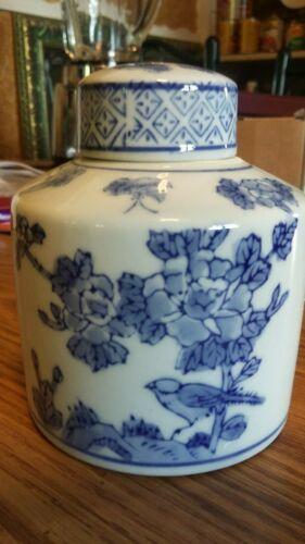 ANTIQUE Vintage Chinese Porcelain Tea Caddy - JAR - Urn - Canister - Crock - Pot