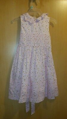 girls 2t laura ashley dress pink with orange and white flowers 100% cotton (Pink And Orange Flower Girl Dresses)