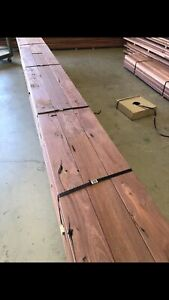 New jarrah timber decking 130 mm by 20