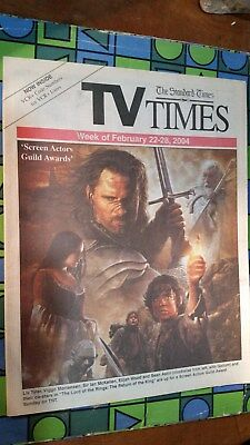 TV TIMES STANDARD FEBRUARY 2004 ~ LORD OF THE RINGS ~ SCREEN ACTOR GUILD (Lord Of The Rings Actor)