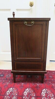 Antique Edwardian Purdonium, coal or log box, cabinet, for restoration