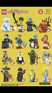 Lego Minifigures Series 16. COMPLETE SET OF 16.