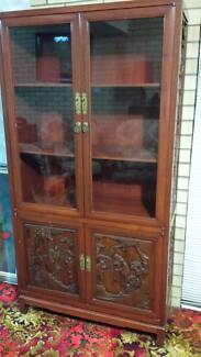 Chinese Carved Timber Bookcase