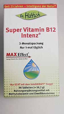 90 Lutschtabletten (Dr. Hittich Super Vitamin B12 Intenz MHD 03/2021 90 Lutschtabletten 3-Monatspck)