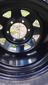 5x  11x15 rims with 33x12.5 big horns suit landcruiser Maryborough Fraser Coast Preview