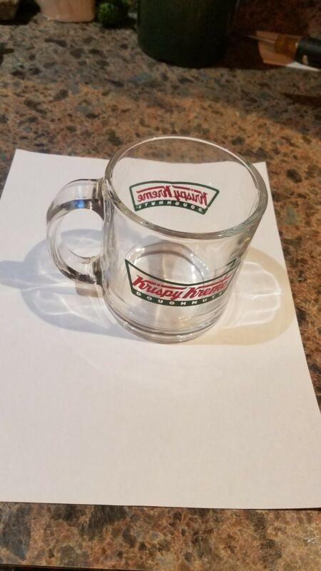 Vintage Krispy Kreme Clear Glass Coffee Mug