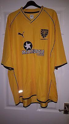 Mens Football Shirt - Wimbledon FC - 2001-02 Away - Puma - Yellow - RARE - XXL image