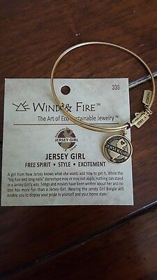 Wind and Fire Baby Shoe 3D Charm Gold Wire Bangle Stackable Bracelet Gift