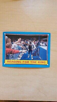 1987 Topps WWE WWF Wrestling #39 Heading For The Ring