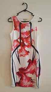Red flower bodycon dress (garage sale) Homebush Strathfield Area Preview