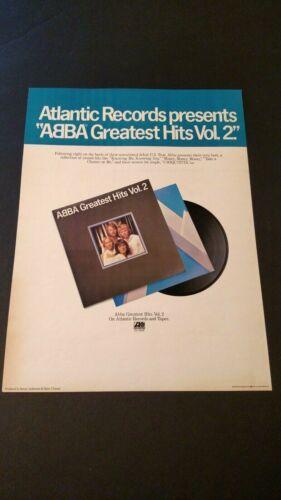 ABBA GREATEST HITS VOL-2  1979 RARE ORIGINAL PRINT PROMO POSTER AD