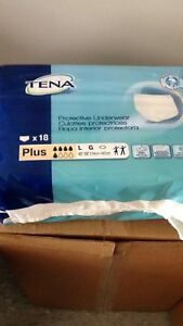 10 packs of 18 count Tena Adult Diapers Large Size