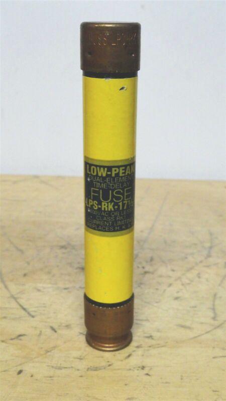 BUSSMANN - LPS-RK-17-1/2 - Low Peak Time Delay Fuse - NEW