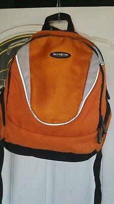Samsonite Backpack Carry-on Padded Orange Adjustable Straps