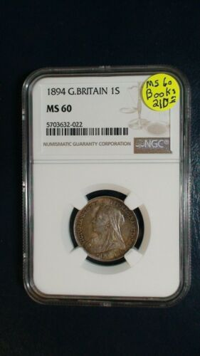 1894 Great Britain Shilling NGC MS60 SILVER 1S Coin BUY IT NOW!
