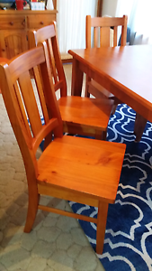 Timber dining table and 6 chairs Revesby Bankstown Area Preview