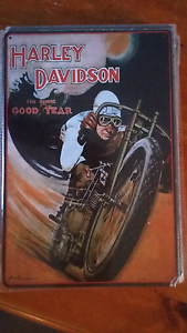 Harley board racer tin sign 30cm x 20cm Burleigh Waters Gold Coast South Preview